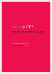 Distimo : THE IMPACT OF PRICE CHANGES January 2013