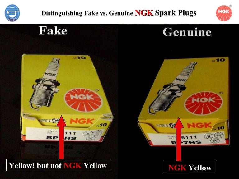 Distinguishing fake ngk spark plug