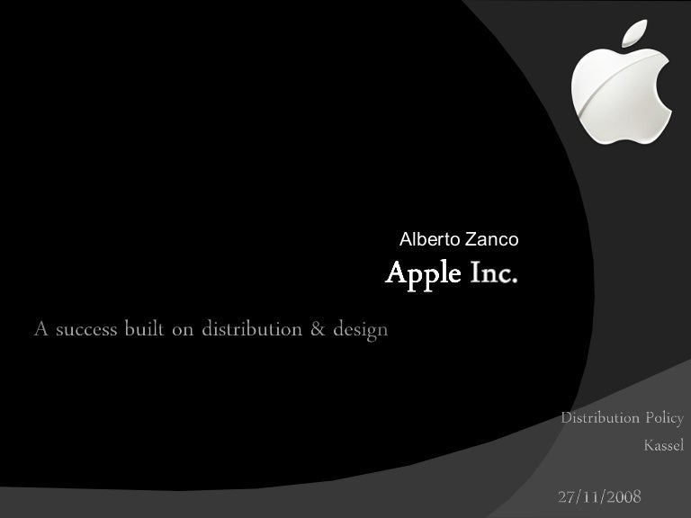 distribution policy apple, Presentation templates