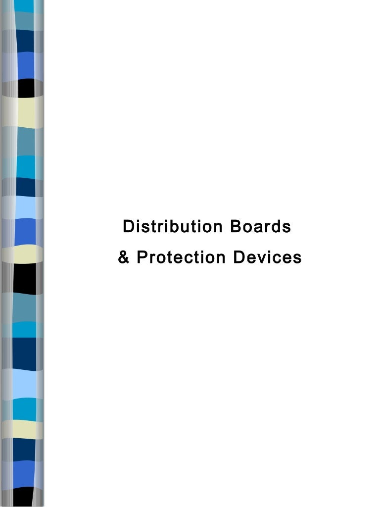 Distribution Boards And Protection Devices Ppt Commercial Wiring Powerpoint Presentation
