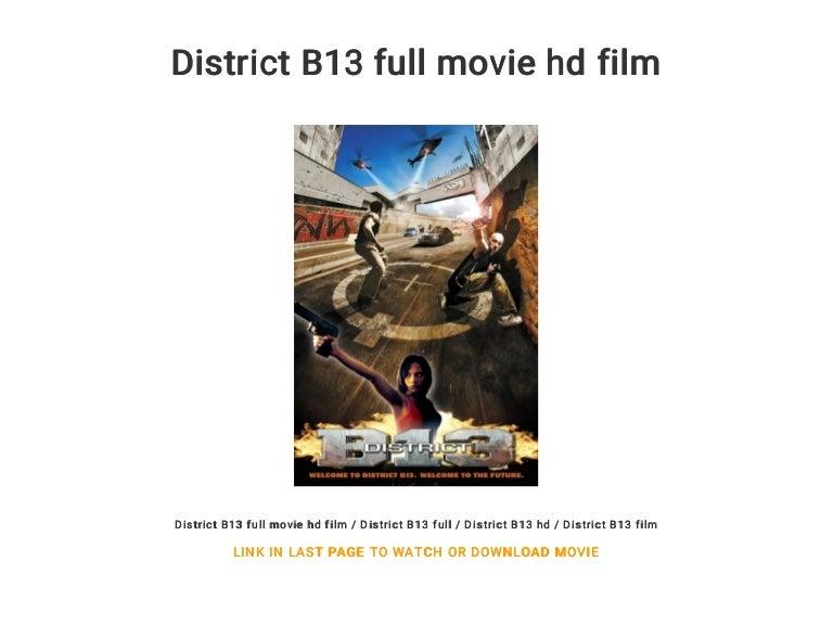 FILM TÉLÉCHARGER B13 LE DISTRICT