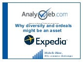 How diversity and ordeals might become an asset -- Internal talk for Expedia
