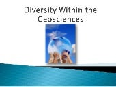 Diversity within the Geoscience