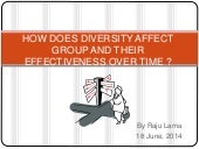 Diversity organizational behaviour