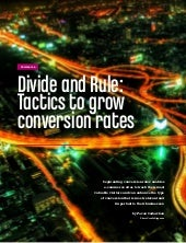 Divide and Rule: Tactics to grow conversion rates