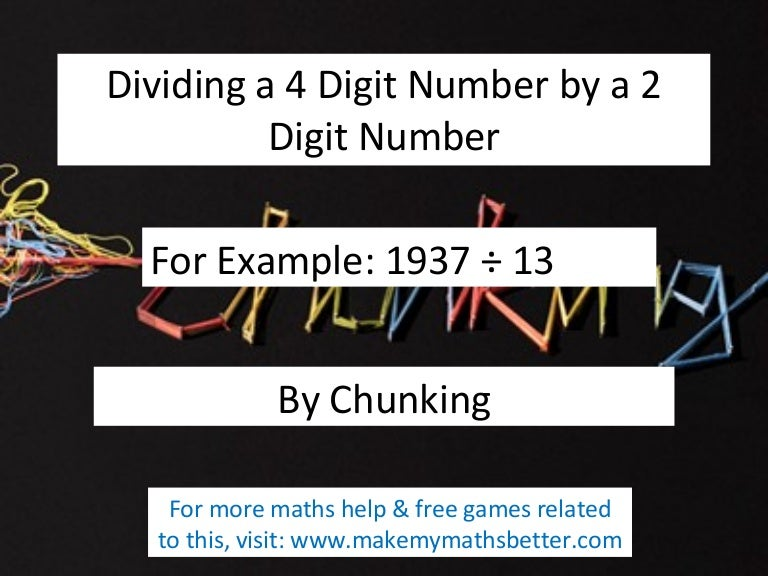 Common Worksheets Dividing 4 Digit Numbers Preschool and – Division by Chunking Worksheets