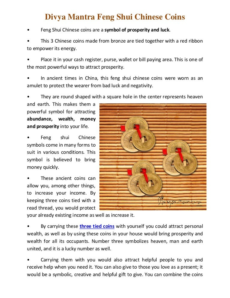 Divya Mantra Feng Shui Chinese Coins