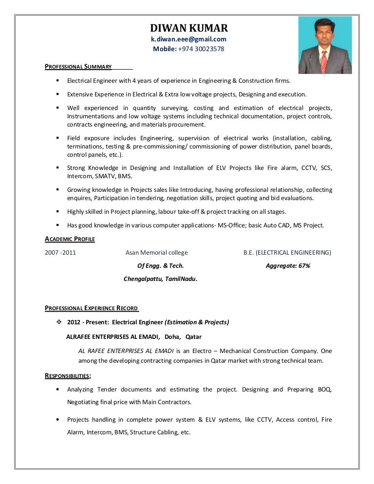 electrical engineer with 4yrs experience  projects