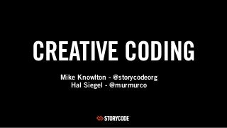 storycode diy days presentation creative coding