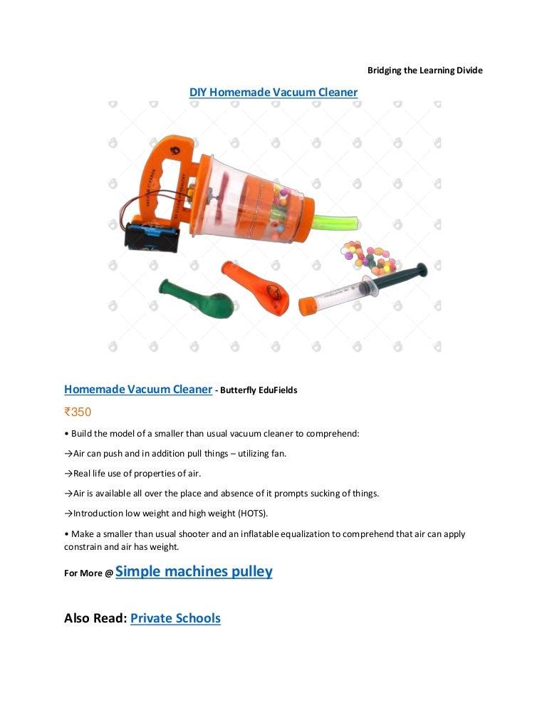 Diy homemade vacuum cleaner