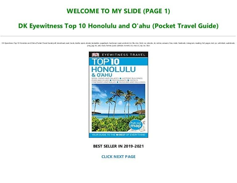 Free [P.D.F Download] DK Eyewitness Top 10 Honolulu and O'ahu (Pocket Travel Guide) Pre Order