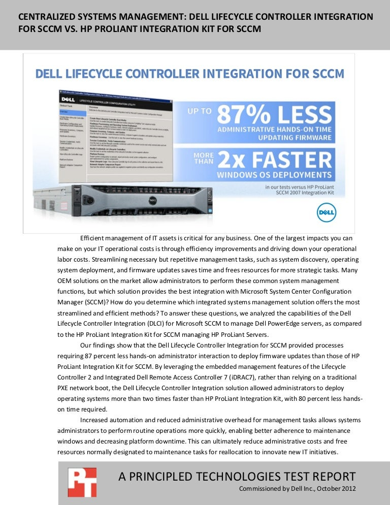Centralized systems management: Dell Lifecycle Controller