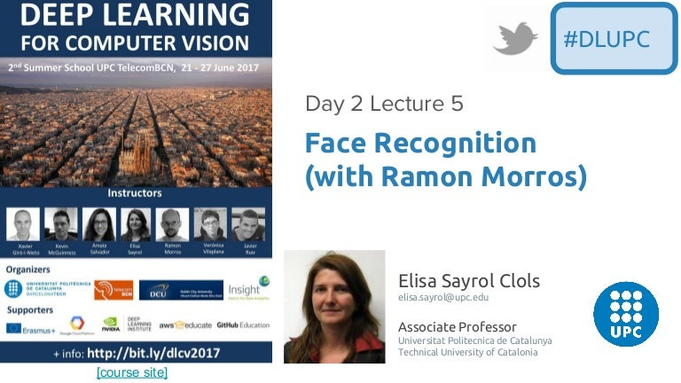 Face Recognition (D2L5 2017 UPC Deep Learning for Computer