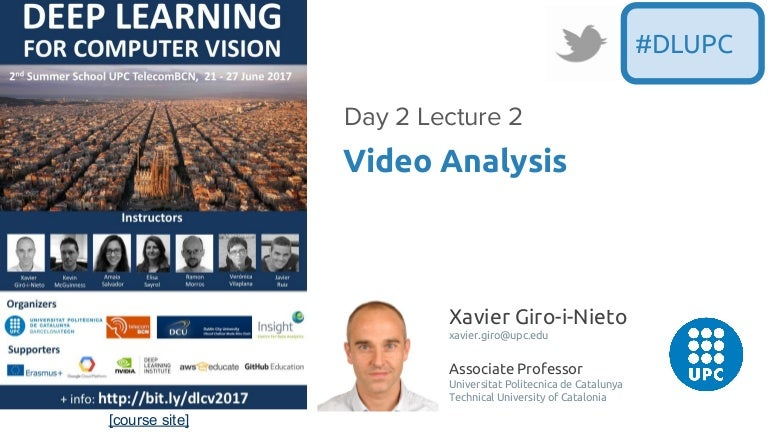 Video Analysis (D4L2 2017 UPC Deep Learning for Computer Vision)