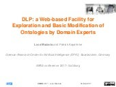 DLP: a Web-based Facility for Exploration and Basic Modification of Ontologies by Domain Experts