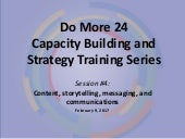 Do More 24 2017 Capacity Building and Strategy Training Series: Session 4