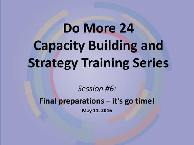 Dm24 2017 capacity building session 6