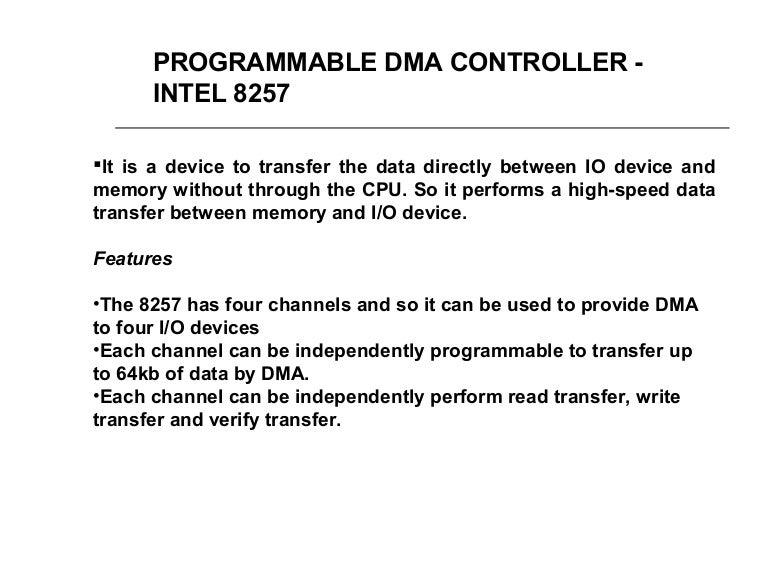 DMA Controller 8237 - 8257