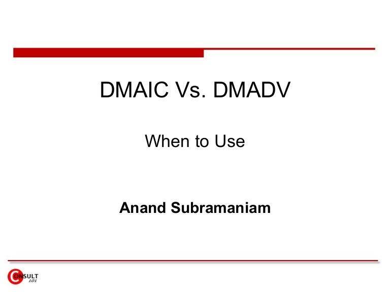 DMAIC VS DMADV PDF