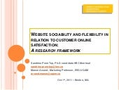 Website sociability and flexibility in relation to customer online satisfaction