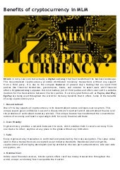Benefit of cryptocurrency internationally