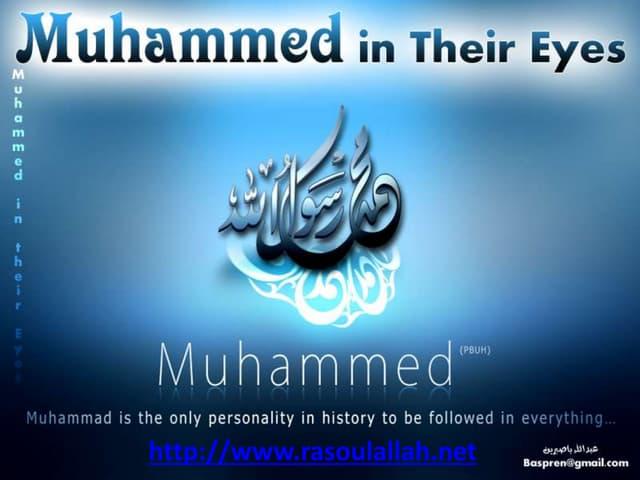 Prophet muhammad muhammed in their eyes