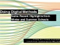 Doing Digital Methods: Some Recent Highlights from Winter and Summer Schools