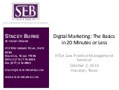 Digital Marketing for Lawyers - Law Practice Management CLE