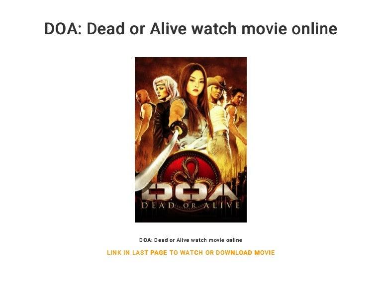 Doa Dead Or Alive Watch Movie Online