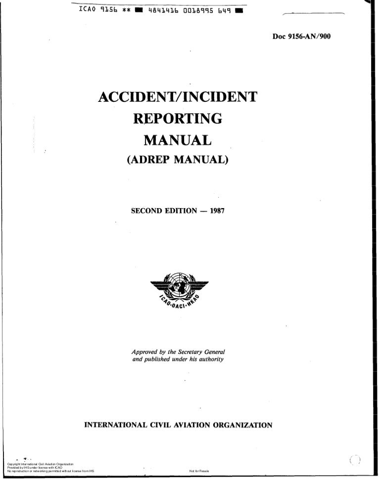 Doc 9156 accident incident reporting manual