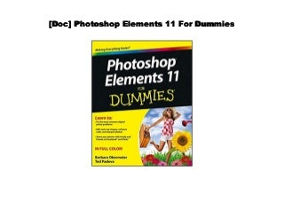 [#PDF~] Photoshop Elements 11 For Dummies