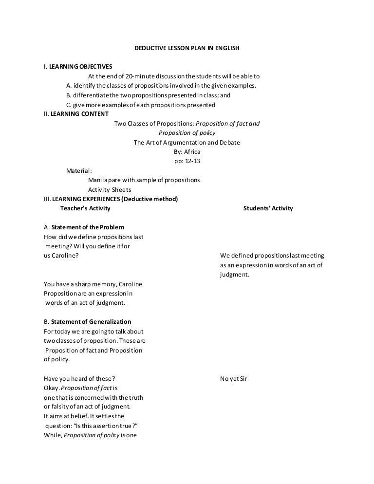 docslide us deductive lesson plan in english 55845e2a3cc81