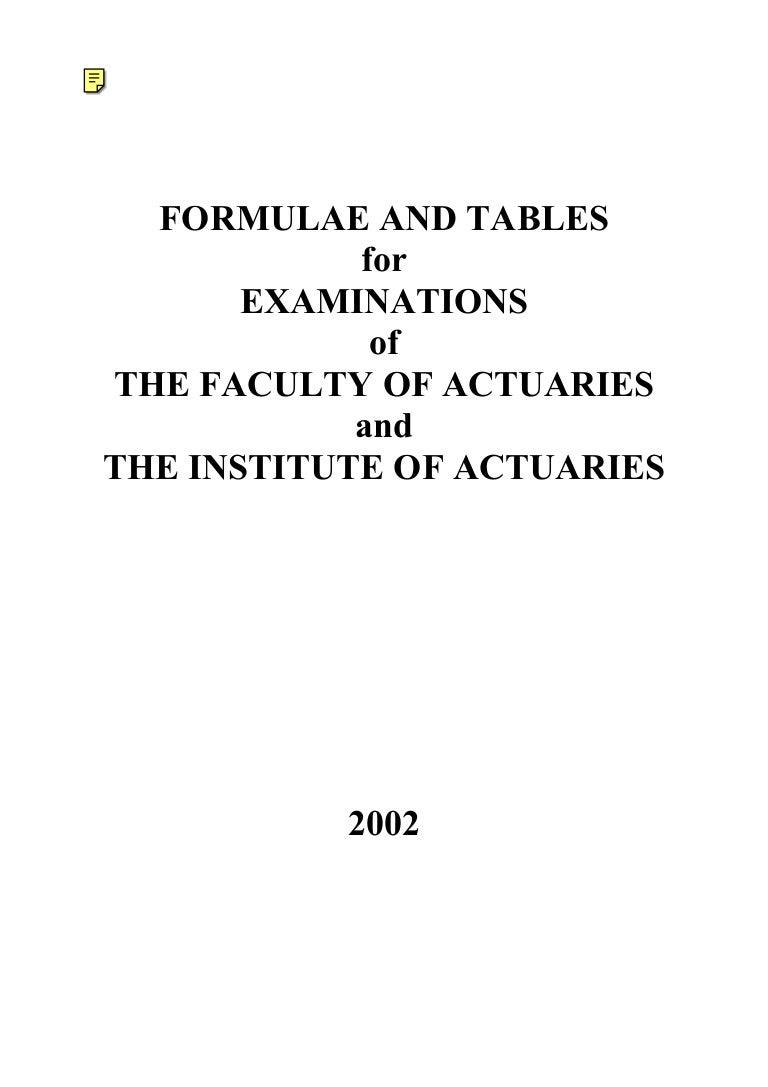 docslide us 2002 formulae and tables