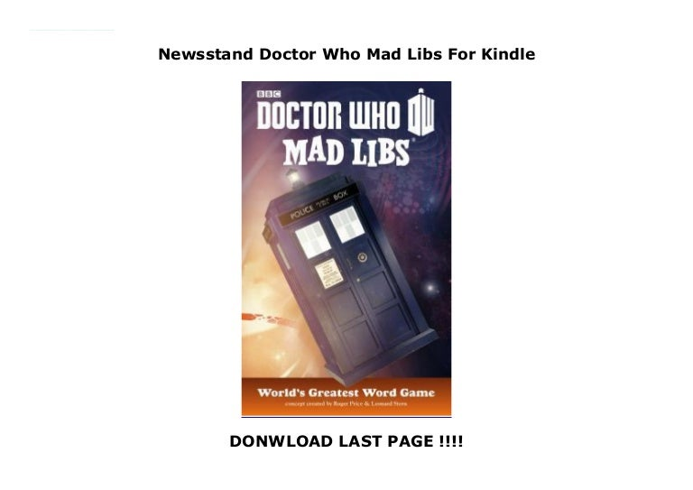 Newsstand Doctor Who Mad Libs For Kindle