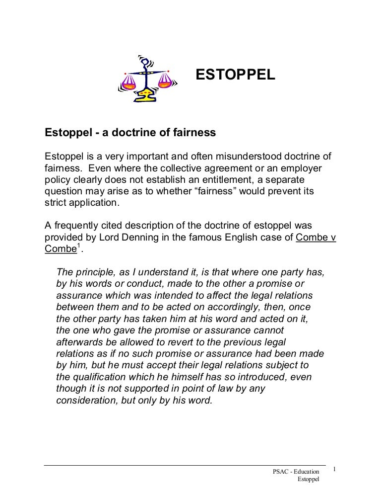 pinnels case and promissory estoppel essay In relation to docrine of consideration promissory estoppel acts as an exception to it (in addition to exceptions established in the pinnel's case and hirachand puramchand v temple) and whenever there is a conflict between the strict contract law and equity, the latter should prevail (earl of oxford's case (1615.