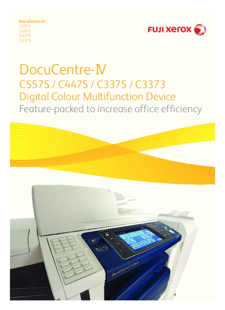 DocuCentre-IV C5575 C4475 C3375 C3373