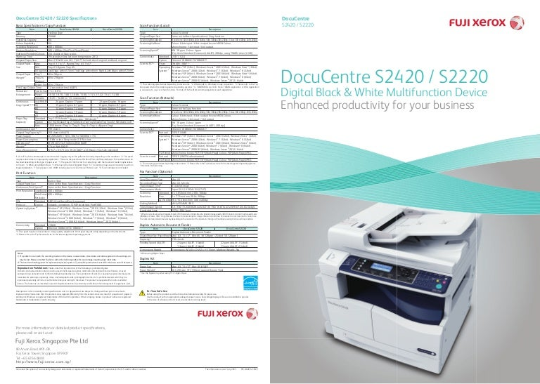 Docucentre S2420 S2220
