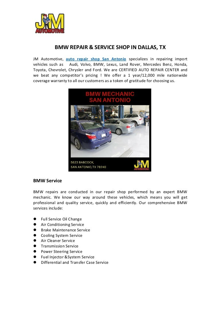 Contact With Best Bmw Mechanic In San Antonio