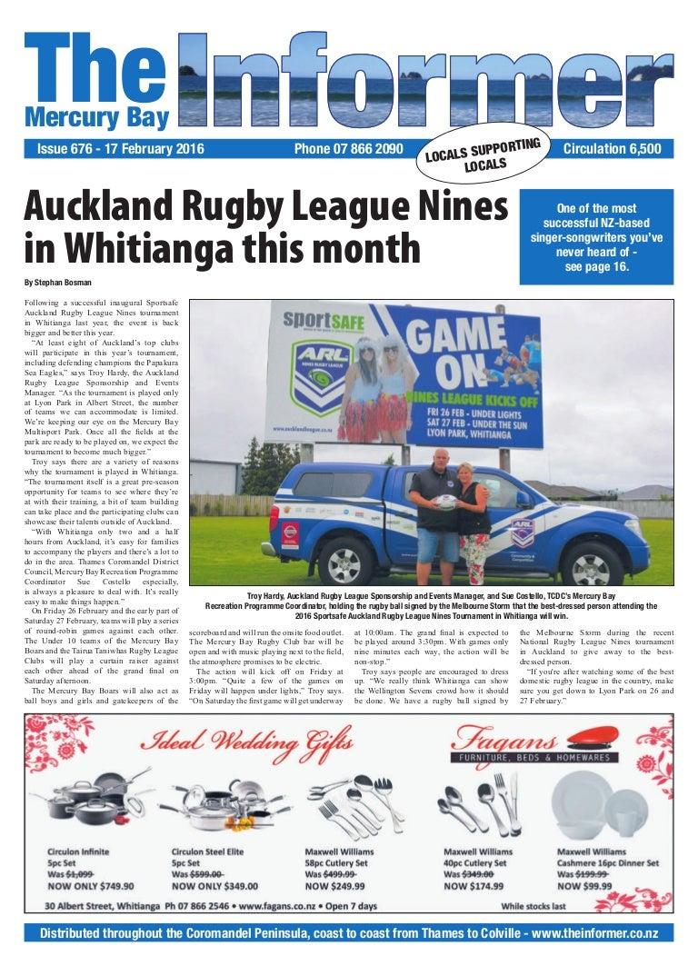 Online Classified Ad in Newspaper Whitianga, Mercury Bay