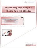Documenting food allergies   use the right icd-10 codes