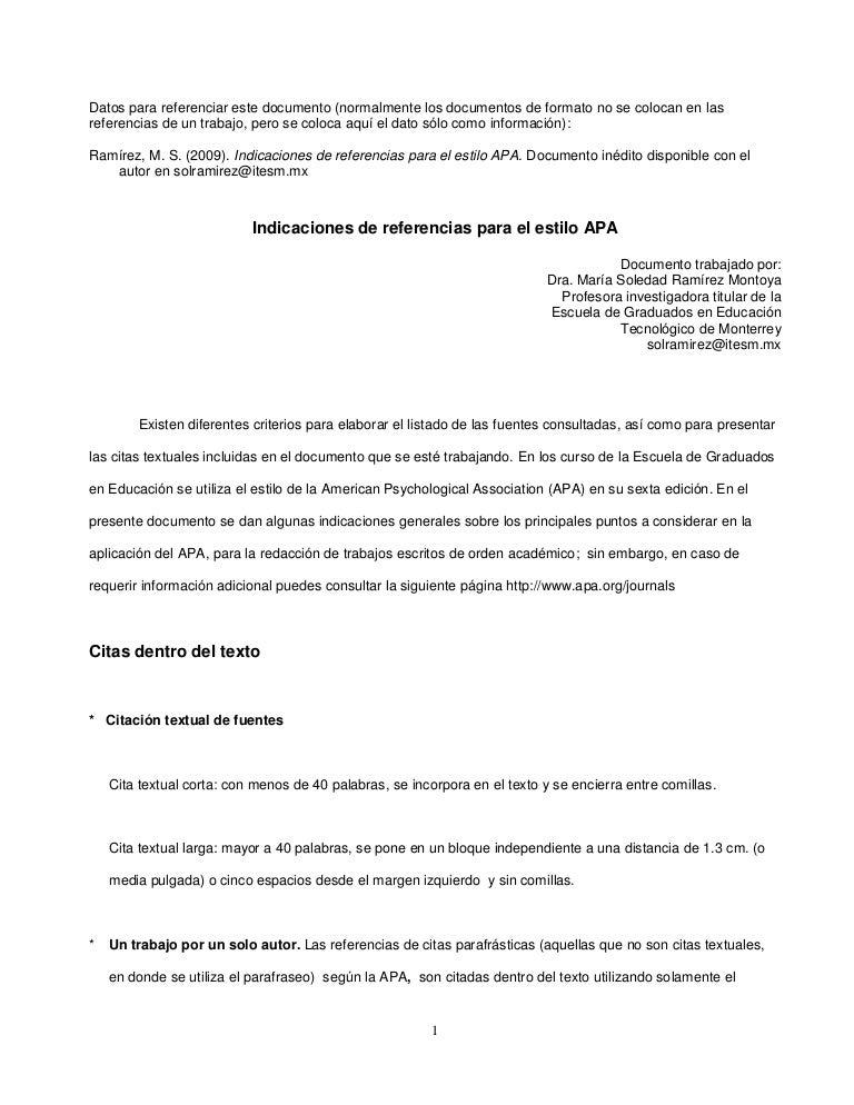 Manual APA resumen