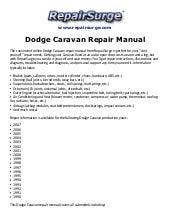 2012 dodge grand caravan shop manual professional user manual ebooks u2022 rh gogradresumes com 1998 Dodge Grand Caravan Back 1998 Dodge Grand Caravan Recalls