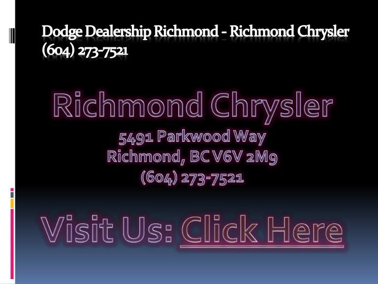 Dodge Dealership Vancouver BC - Richmond Chrysler (604 ...