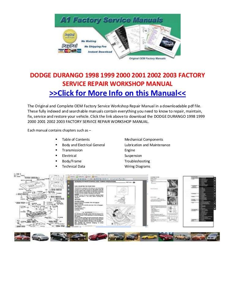 2002 dodge durango service manual pdf download enthusiast wiring rh rasalibre co