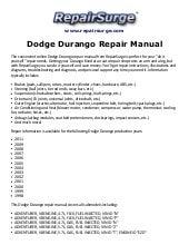 dodge durango repair manual 1998-2011  slideshare