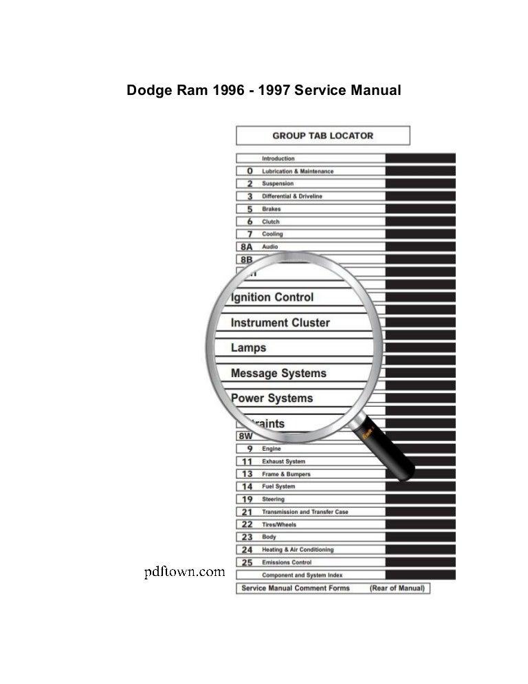 Dodge Ram 1995 2009 Repair Manual