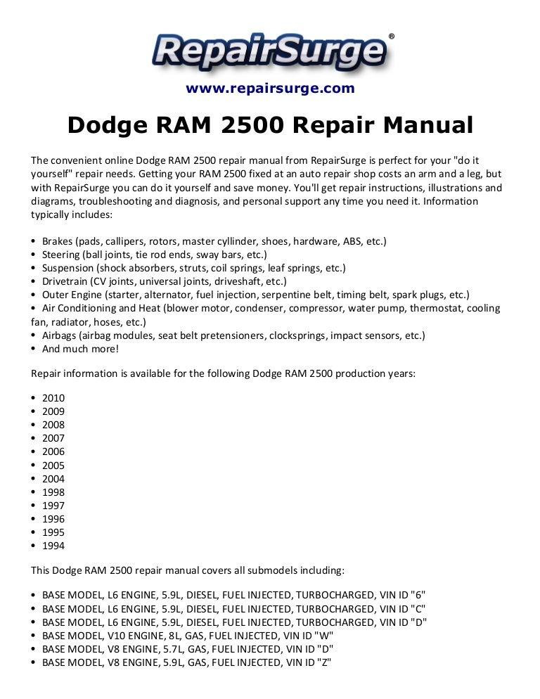 dodgeram2500repairmanual1994 2010 141110144559 conversion gate01 thumbnail 4?cb=1415631479 dodge ram 2500 repair manual 1994 2010 06 Dodge Ram Wiring Diagram at bayanpartner.co