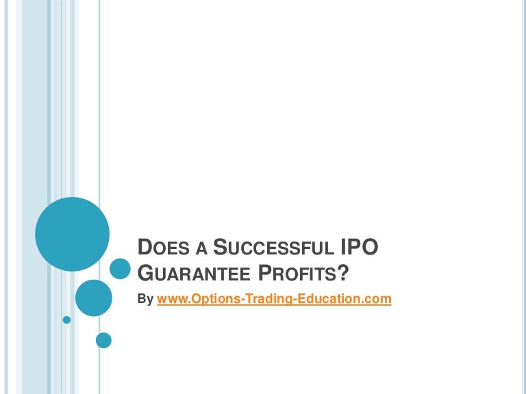 Can ipo be non profit