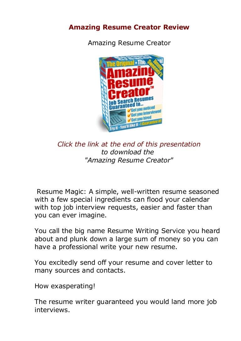 resume Resume Magic does amazing resume creator actually work amazingresumecreator review