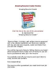 Does Amazing Resume Creator Actually Work? AmazingResumeCreator Review